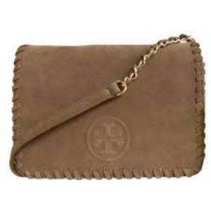 NWT Tory Burch Authentic Marion Suede Crossbody